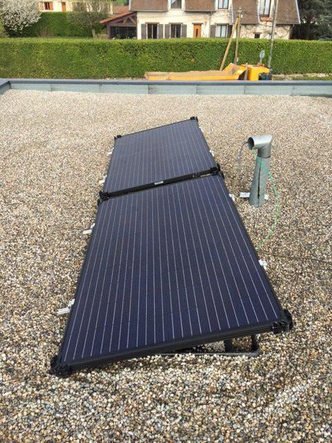 Installation de panneaux photovoltaique pour toit terrasse